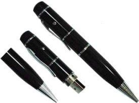 Microware 4GB Black Pen With Laser Pointer Shape Designer Pen Drive