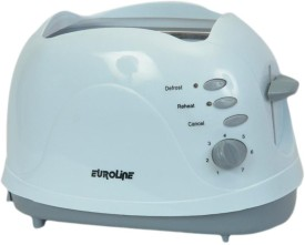 Euroline EU810P 2 Slice 550W Pop Up Toaster