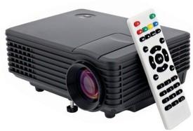 Voltegic ® Mini Multimedia Home Theater Projectors USB HDMI 800 lm LED Corded Portable Projector(Black)