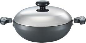 Prestige HA Flat Base Aluminium kadhai (5 L)