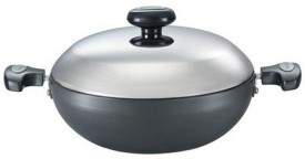 Prestige Hard Anodized Kadhai With Lid 200 mm