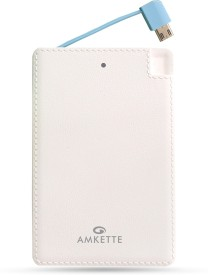 Amkette Fuel Card 2500 Mah Powerbank (With Iphone Connectors)