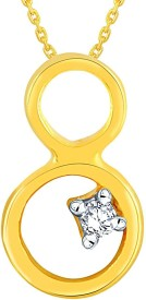 Maya Gold Delightful 18kt Cubic Zirconia Yellow Gold Pendant(Yellow Gold Plated)