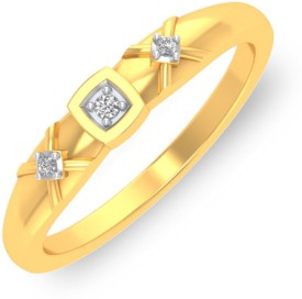 P.N.Gadgil Jewellers Square N Dots 18kt Diamond Yellow Gold ring(Yellow Gold Plated)