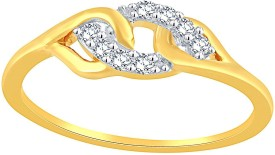 Asmi Delightful Diamond Lumineux Uno ring(Yellow Gold Plated)
