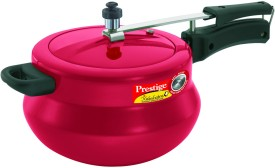 Nakshatra Plus Red Handi Aluminium 5 L Pressure Cooker (Induction Bottom, Inner Lid)