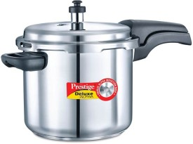 Prestige Dlx alpha Stainless Steel 5.5 L Pressure Cooker (Induction Bottom,Outer Lid)
