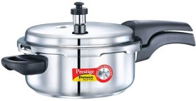 Prestige dlx alpha Stainless Steel 3 L Pressure Cooker (Induction Bottom,Outer Lid)