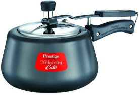 Prestige Nakshatra Cute 3 L Hard Anodized Pressure Cooker (Induction Bottom,Inner Lid)