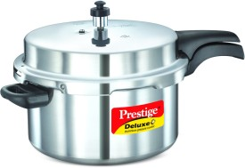 Deluxe Plus Aluminium 7.5 L Pressure Cooker (Induction Bottom, Outer Lid)