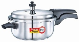 Prestige Deluxe Alpha Stainless Steel 2 L Pressure Cooker (Induction Bottom,Outer Lid)