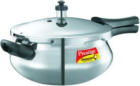 Deluxe Plus Junior Handi Aluminium 4.8 L Pressure Cooker (Induction Bottom, Outer Lid)