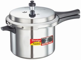 Popular Plus Aluminium 5 L Pressure Cooker (Induction Bottom, Outer Lid)