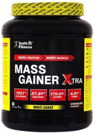 HealthVit Fitness Mass Gainer Mass Gainers(1 kg, Chocolate)