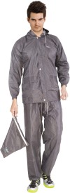 Lotus Stylish Matrix Solid Men's Raincoat