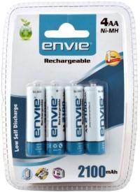 Envie 4 AA 2100mAh Ni-Mh Rechargeable Batteri..