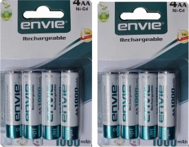 Envie AA 1000mAh Ni-Cd Rechargeable Batteries (8 Pcs)