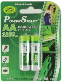 Power Smart Pack of 2 AA 2800mAh Rechargeable Batteries