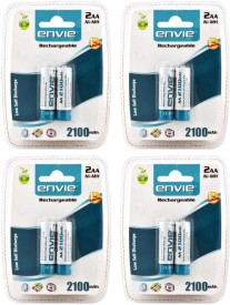Envie 8 x AA 2100mAh Rechargeable Ni-MH Battery (4 Packs)