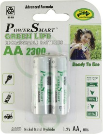Power Smart Pack of 2 AA 2300mAh Ni-MH Rechargeable Batteries