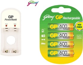Godrej PB S350 Battery Charger (With 600mAh Rechargeable Ni-MH Battery)