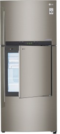LG GC-D432HLAM 3S 426 Litres Door In Door Refrigerator (Shiny Steel)