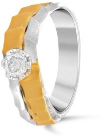 VelvetCase Solitaire White and Yellow Gold Ring(5.89gm) Gold Ring