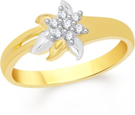 VK Jewels Cute Petal Alloy Cubic Zirconia 18K Yellow Gold Plated Ring