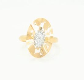 Bhurmal Aidanmal Jewellers Cz Cast 18kt Cubic Zirconia Yellow Gold ring