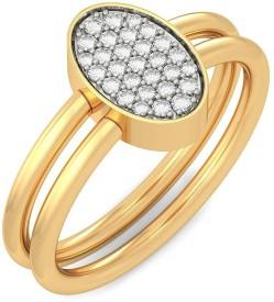 BlueStone Forever Bond Rakhi 18kt Diamond Yellow Gold ring
