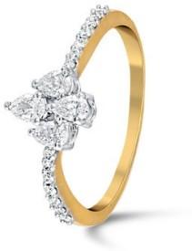 VelvetCase Drop Diamond Ring Gold Ring