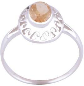 Silver Prince Designer Silver Citrine Ring