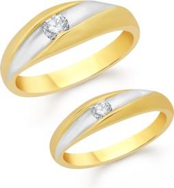 VShine Alloy Swarovski Zirconia 24K Yellow Gold Plated Ring Set