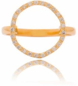 VelvetCase Halo Diamond Ring Gold Ring