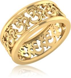IskiUski The Shivay Om Men's 14kt Swarovski Crystal Yellow Gold ring(Yellow Gold Plated)