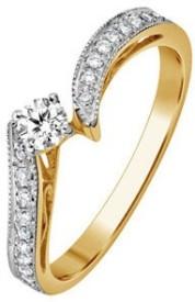 VelvetCase Promise Ring in 950 PT platinum with 0.18 ct Diamonds Platinum Ring