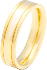 Sparkling Drop Celestial Rollings Stainless Steel Yellow Gold Ring