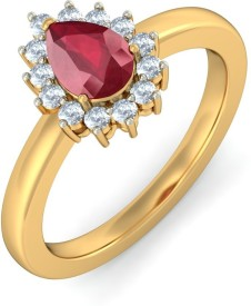 SMBros Lovable Alloy Cubic Zirconia Rhodium Plated Ring