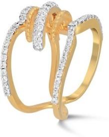 VelvetCase Diamante Road Ring Gold Ring