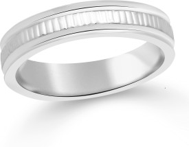 Classic Simple Band Plain for Women Size13 [CJ1119FRR13] Alloy Cubic Zirconia Ring