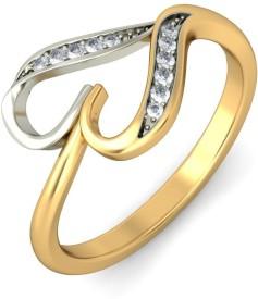 Joyra Gracious Alloy Cubic Zirconia Rhodium Plated Ring