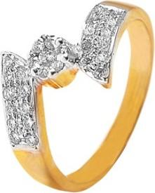 VelvetCase Laura Diamond Ring Gold Ring