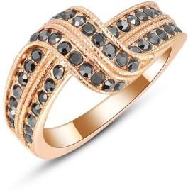 Carina Designer Crystal Swarovski Crystal 18K Rose Gold Plated Ring