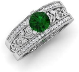 Joyra Graceful Alloy Cubic Zirconia Rhodium Plated Ring