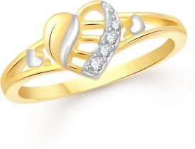 VShine Alloy Swarovski Zirconia 24K Yellow Gold Plated Ring