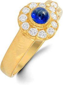 VelvetCase Get this simple yet classy sapphire and diamond ring to flaunt on a daily basis. Gold Sapphire Ring