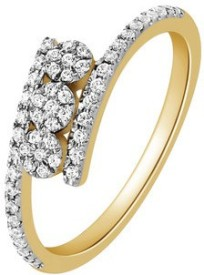 VelvetCase Anniversary Ring in 18k gold with 0.26 ct Diamonds Gold Ring