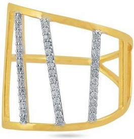 VelvetCase Stylish Diamond Ring Gold Ring