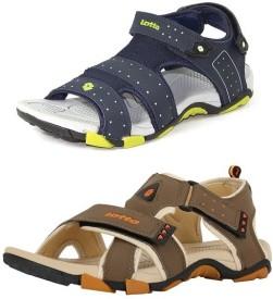 Lotto Men Beige Green Sandals