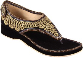 Shopping World Women Black Flats